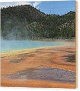 Steamy Yellowstone Wood Print