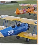 Stearman Departure Wood Print