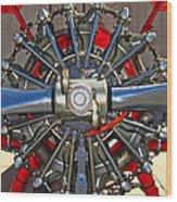 Stearman Engine Wood Print