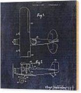 1929 Stearman Patent Drawing Blue Wood Print