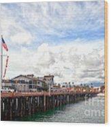 Stearns Wharf Santa Barbara California Wood Print