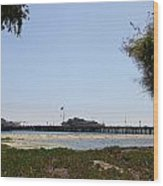 Stearns Wharf Santa Barbara Wood Print