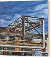 Steel And Turmoil  Wood Print
