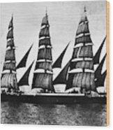 Steel Barque, 1921 Wood Print