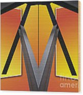 Steel Beams 02 Mirror Image Wood Print