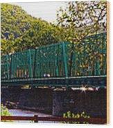 Steel Bridge Wood Print