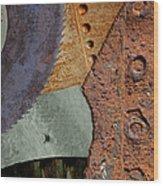 Steel Collage Wood Print