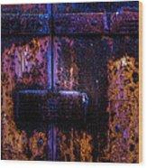 Steel Door Number Three Wood Print