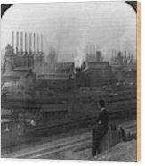 Steel Factory, C1907 Wood Print