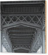 Steel Girder Bridge Wood Print