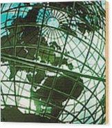 Steel Globe At The Trump International Wood Print