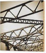 Steel Lines Wood Print