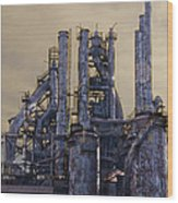 Steel Mill - Bethlehem Pa Wood Print by Bill Cannon