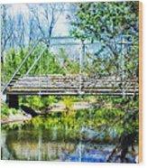 Steel Span Bridge Gettysburg Wood Print