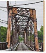 Steel Span Railroad Bridge Manayunk  Philadelphia Pa Wood Print