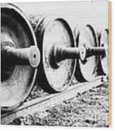 Steel Wheels Wood Print