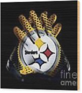 Steelers Gloves Wood Print