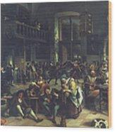 Steen: Merrymaking, 1674 Wood Print