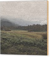 Steens Mountain Landscape - No. 2 Wood Print