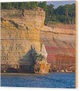 Steep Cliffs Wood Print