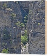 Steep Cliffs With Railroad Track Art Prints Wood Print