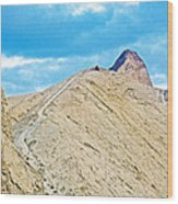Steep Trail To Manly Beacon From Golden Canyon In Death Valley National Park-california  Wood Print