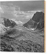 109629-bw-steeple And Temple Peaks, Wind Rivers Wood Print