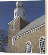 Steeple At Bruton Parish Church Wood Print
