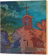 Steeple Bell Tower Wood Print by Beverly Guilliams