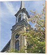 Steeple Church Arch Windows Wood Print