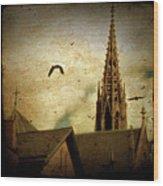 Steeple Crows Wood Print