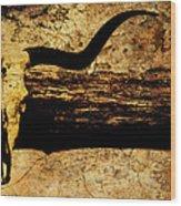 Steer Mount Wood Print