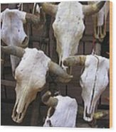 Steer Skulls  - New Mexico Wood Print