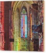 Stefan In Colors 2 Wood Print by Viacheslav Savitskiy