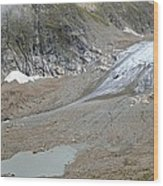 Stein Glacier, Switzerland Wood Print by Science Photo Library