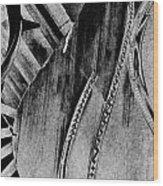 Steinway Black And White Inners Wood Print