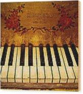 Steinway Golden Grand  Wood Print
