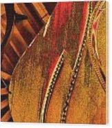 Steinway Piano Golden Inners Wood Print