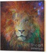 Stellar Lion Wood Print