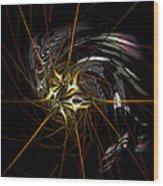 Stellar Spikes Wood Print