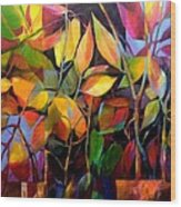 Stems And Leaves No. 76 Wood Print
