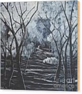 Step Into The Woods Wood Print
