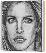 Stephanie Seymour In 1992 Wood Print