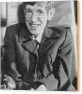 Stephen Hawking Wood Print