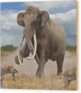 Steppe Mammoth Wood Print