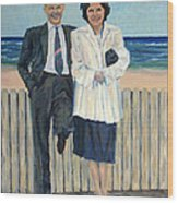 Stepping Out In Atlantic City New Jersey Wood Print
