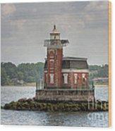 Stepping Stones Lighthouse I Wood Print