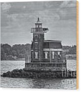 Stepping Stones Lighthouse II Wood Print by Clarence Holmes