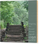 Steps And Lao Tzu Quote Wood Print by Heidi Hermes