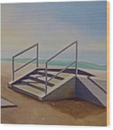 Steps To Beach Wood Print
